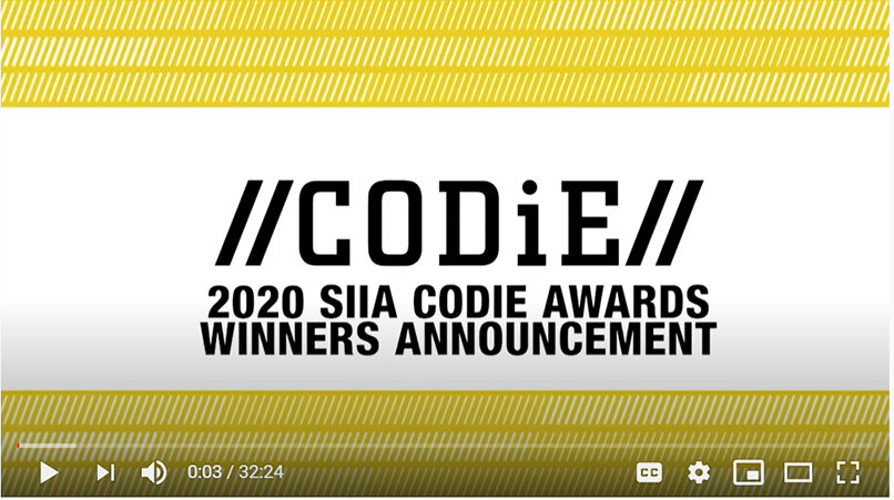 2020 CODiE award announcement